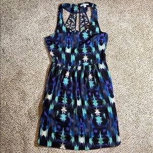 NWOT American Eagle Bright Dress Open Back Size 4